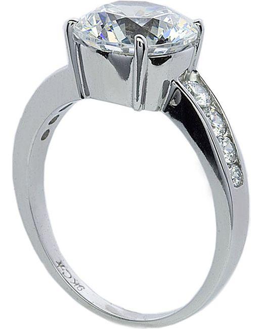 Carat* | White Round Brilliant 2.5ct Solitaire Ring | Lyst