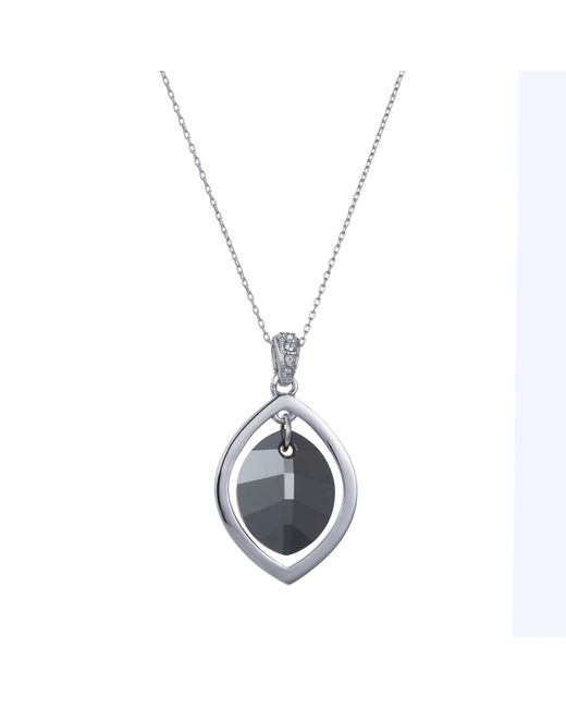 Aurora | Gray Pure Leaf Necklace | Lyst