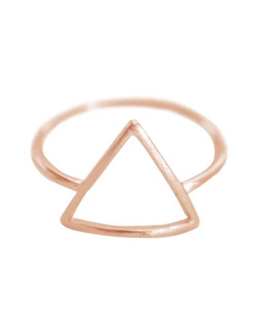 Cloverpost | Pink Open Triangle Ring | Lyst