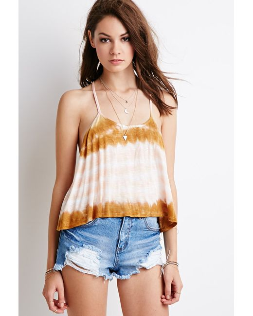 Forever 21 | Orange Tie-dye Y-back Cami | Lyst