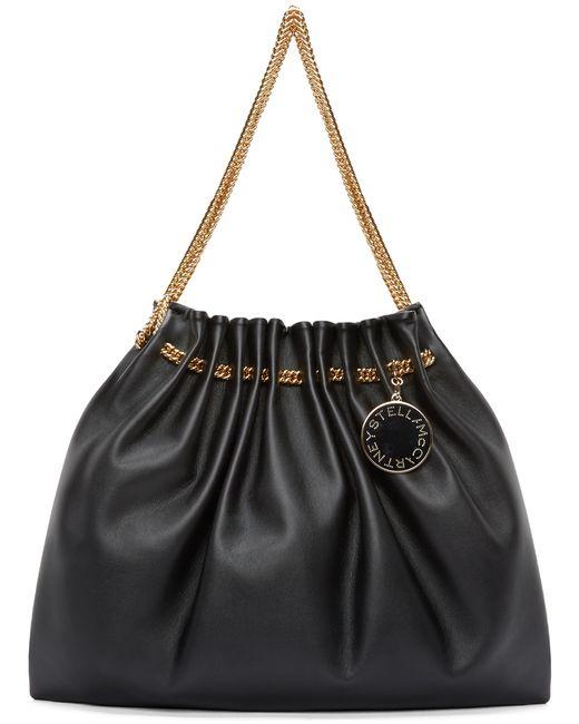 Stella McCartney | Black Chain Hobo Bag | Lyst