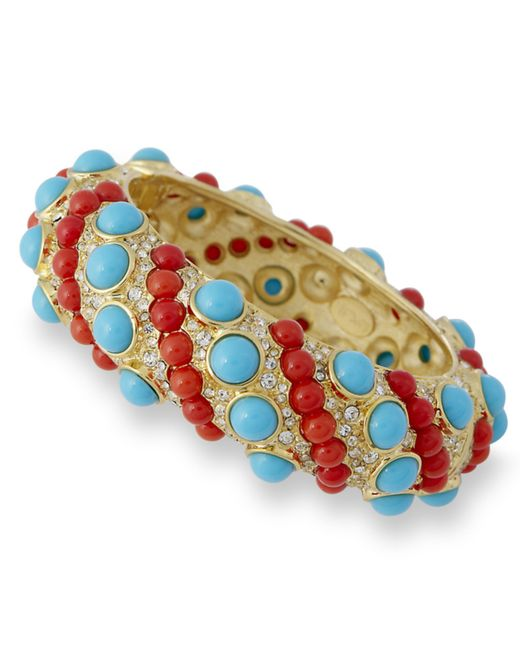 Kenneth Jay Lane | Multicolor Coral And Turquoise Bracelet | Lyst