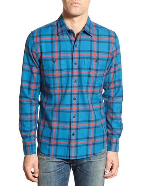 Bonobos 39 saltcoast 39 slim fit long sleeve flannel sport for Mens slim fit flannel shirt