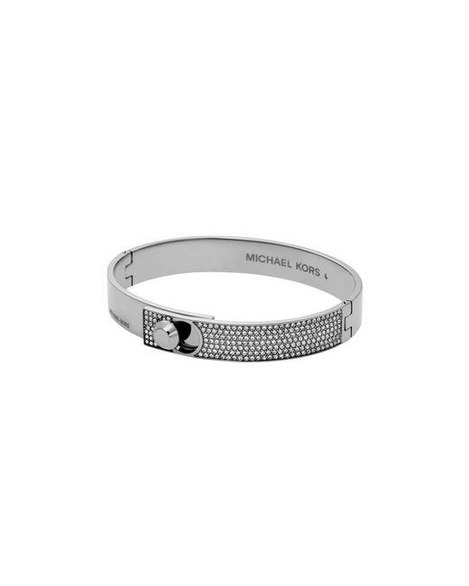 Michael Kors | Metallic Pave Logo Astor Hinge Bangle | Lyst
