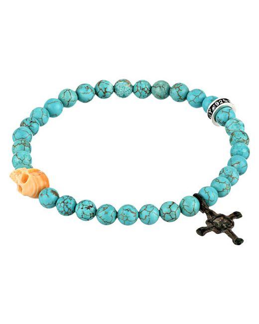 King Baby Studio | Blue Turquoise Bead & Conch Shell Skull Bracelet | Lyst