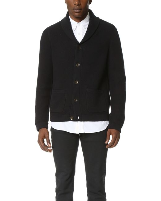 Rag & Bone | Black Standard Issue Avery Shawl Cardigan for Men | Lyst