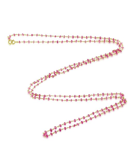 Emily & Ashley | Red Pink Sapphire Necklace | Lyst