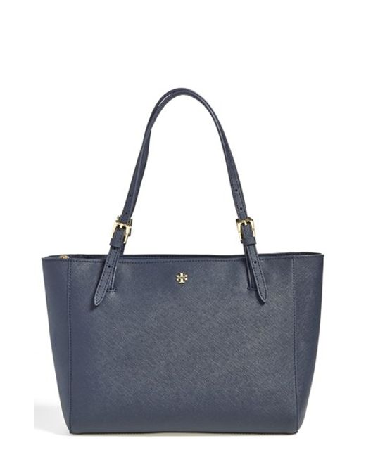 Tory Burch | Blue 'small York' Saffiano Leather Buckle Tote | Lyst