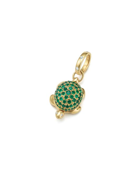 Temple St. Clair | Metallic 18k Turtle Locket With Emerald Pavé And Diamonds | Lyst