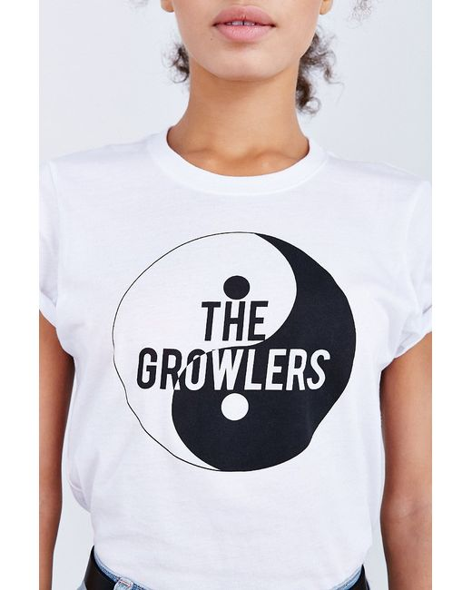 urban outfitters the growlers tee in white lyst