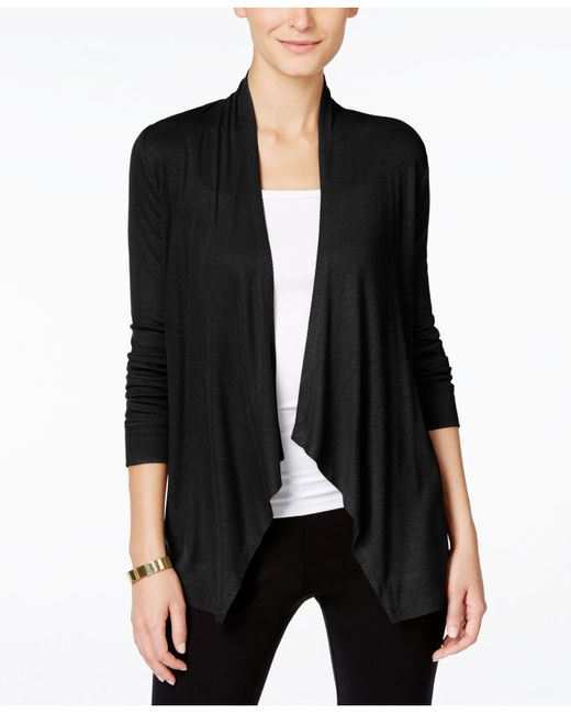 INC International Concepts | Black Draped Cardigan, Only At Macy's | Lyst