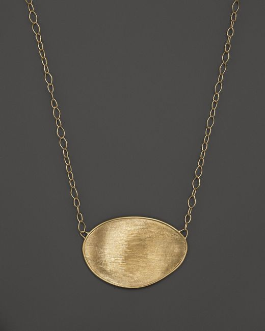 Marco Bicego | Metallic 18k Yellow Gold Lunaria Pendant Necklace, 16.5"