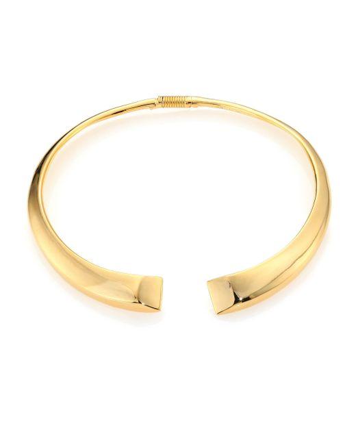 Kenneth Jay Lane | Metallic Open Collar Necklace | Lyst