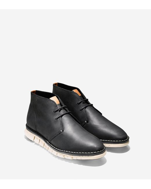 Cole Haan | Black Zerøgrand Stitch Out Chukka for Men | Lyst