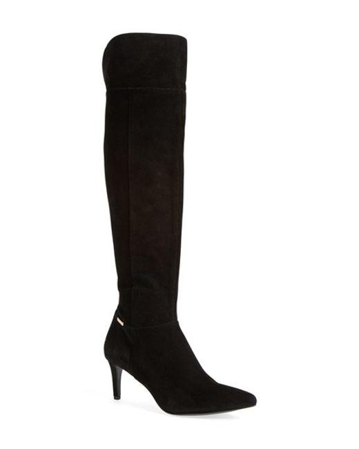 Calvin Klein | Black 'clancey' Over The Knee Boot | Lyst