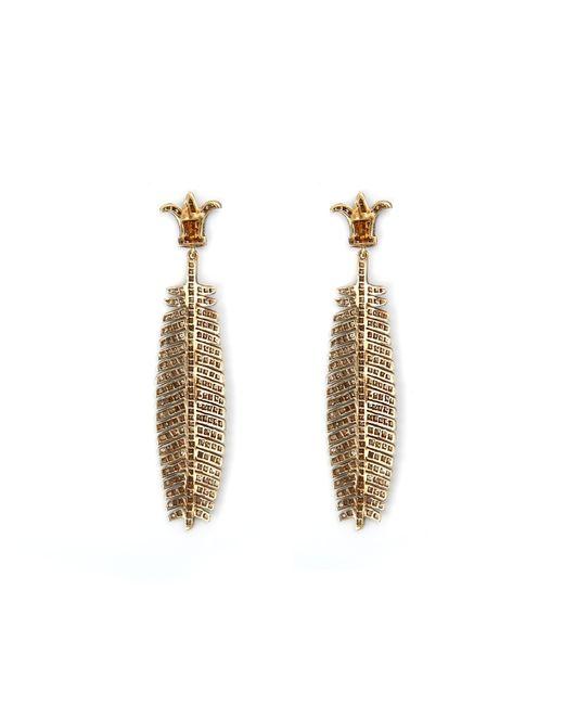 Sanjay Kasliwal   Metallic Pavã© Palm Earrings   Lyst