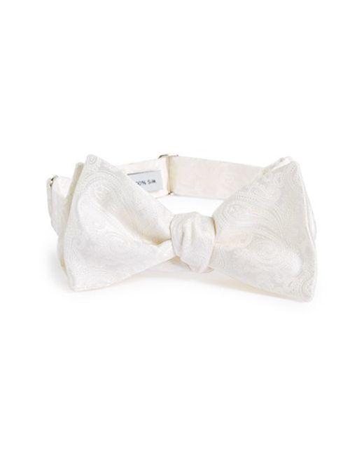 Robert Talbott | White Paisley Silk Bow Tie for Men | Lyst