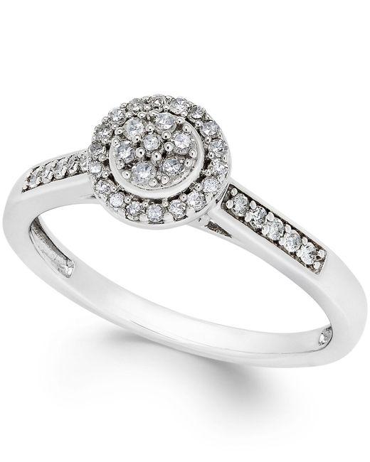 macy s circular promise ring 1 5 ct t w in 10k