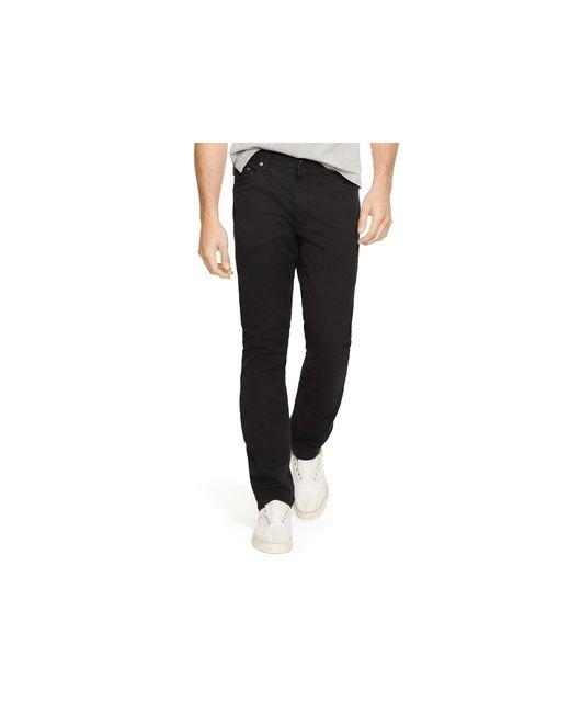 Polo Ralph Lauren | Black Varick Five Pocket Slim Fit Pants for Men | Lyst