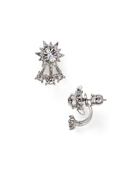 ABS By Allen Schwartz | Metallic Front Back Stud Earrings | Lyst