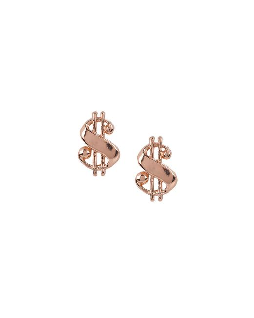 Bing Bang | Pink Baller Money Sign Studs | Lyst