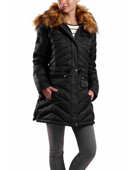 Dawn Levy | Black Faux Fur Collar Jacker With Pockets | Lyst