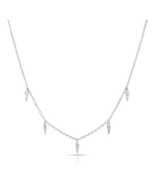 Anne Sisteron - 14kt White Gold Diamond Sistine Spike Necklace - Lyst