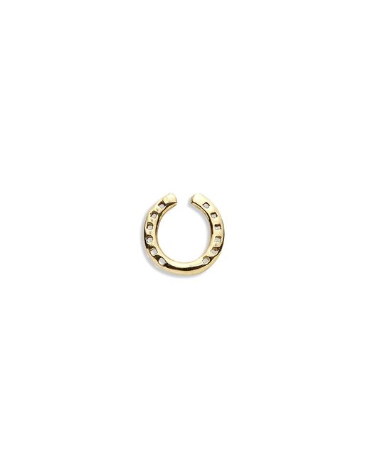Loquet London | Metallic 18k Yellow Gold Horseshoe Charm - Protection | Lyst