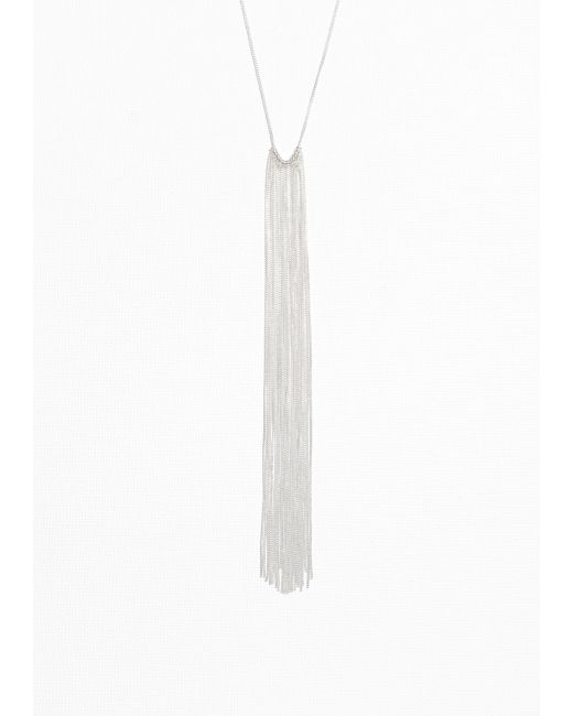 & Other Stories | Metallic Fringe Necklace | Lyst