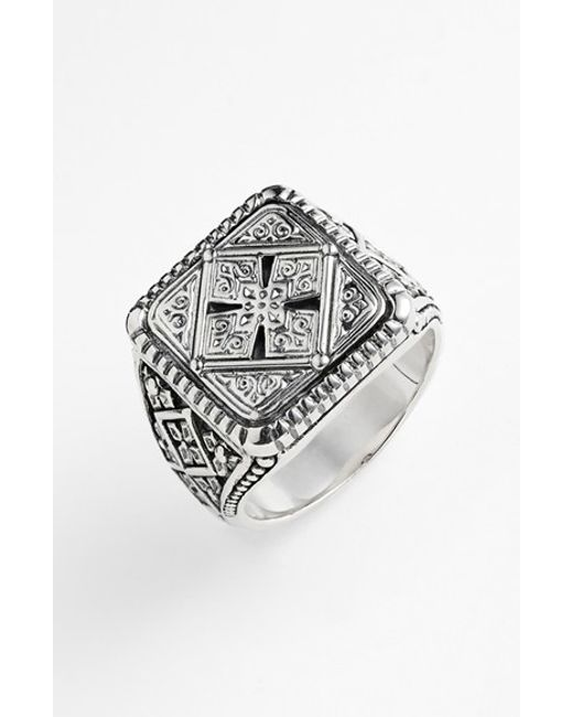 Konstantino | Metallic 'classics' Cross Square Ring for Men | Lyst