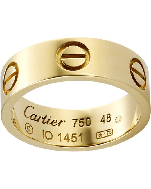 Cartier | Love 18ct Yellow-gold Ring | Lyst