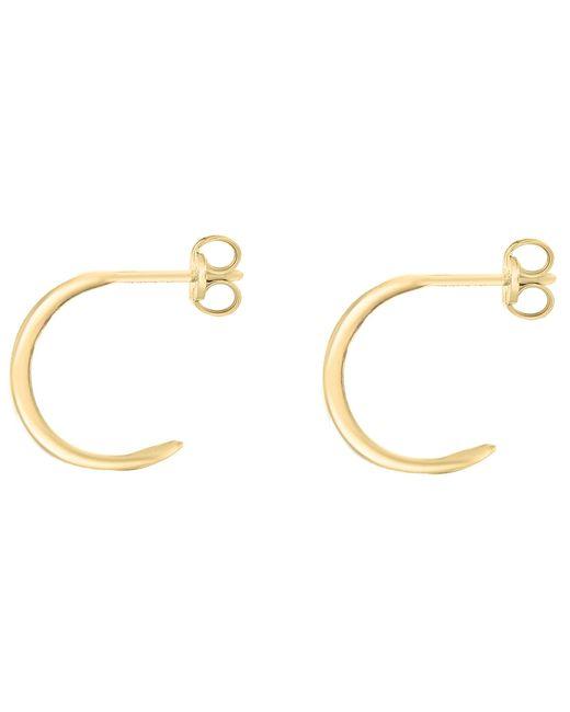 Ib&b | Metallic 9ct Gold Half Band Earrings | Lyst