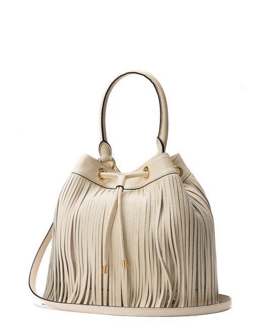 MILLY   White Essex Fringe Drawstring Bag   Lyst