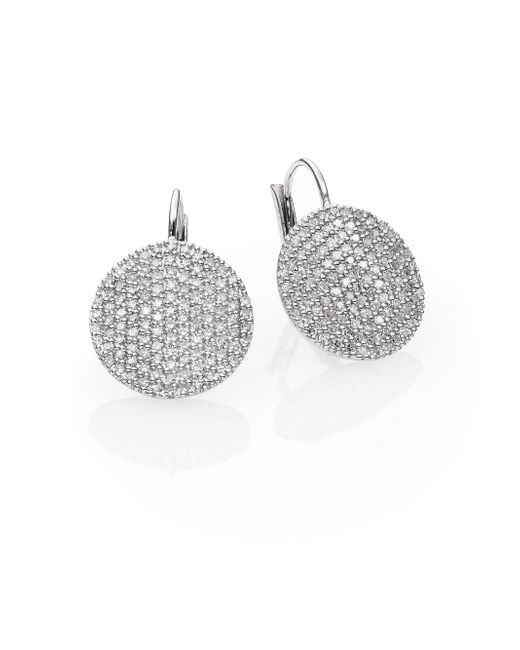 Phillips House | Affair Diamond & 14k White Gold Infinity Leverback Earrings | Lyst
