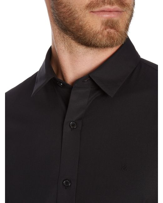 Calvin Klein | Black Wilbert Slim Fitting Shirt for Men | Lyst