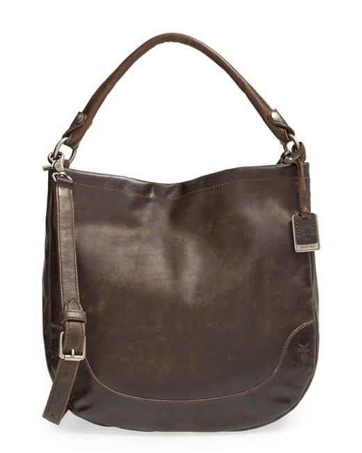 Frye | Brown 'melissa' Washed Leather Hobo | Lyst