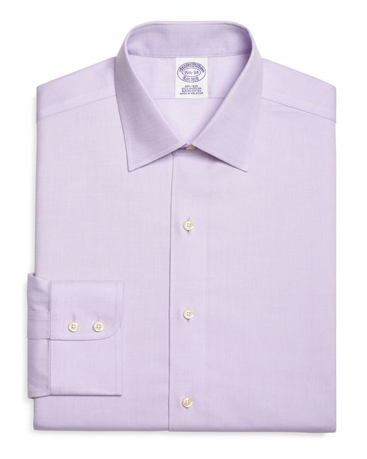 Brooks Brothers   Purple Non-iron Madison Fit Royal Oxford Dress Shirt for Men   Lyst