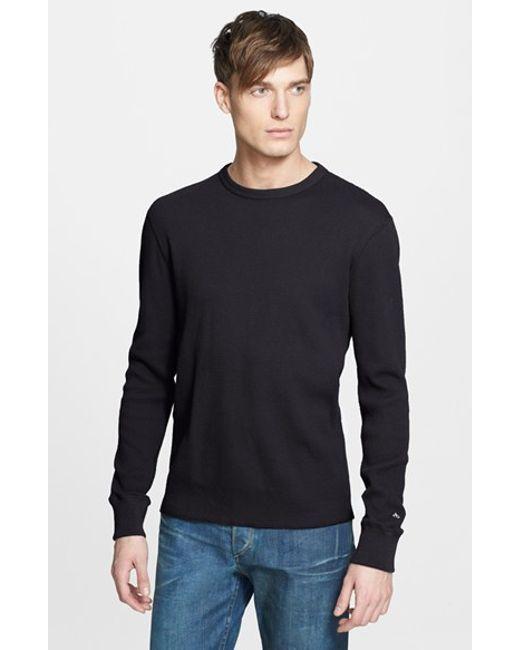 Rag & Bone | Black Standard Issue Long Sleeve Thermal T-shirt for Men | Lyst