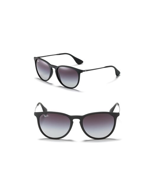 Ray-Ban | Black Round Keyhole Sunglasses | Lyst