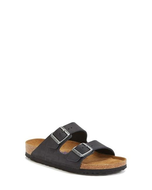 Birkenstock | Black 'arizona' Soft Footbed Sandal | Lyst