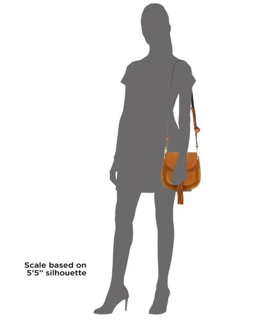 clohe bags - Chlo�� Hudson Small Suede Shoulder Bag in Khaki | Lyst