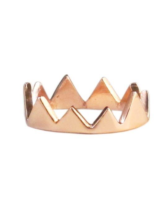 Jill Golden   Metallic Crown Ring   Lyst