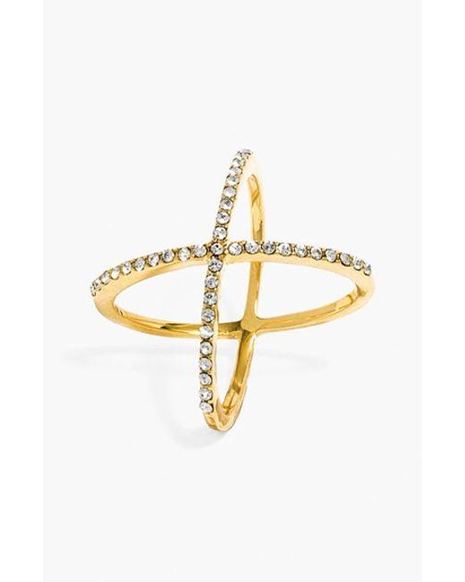 BaubleBar | Metallic 'mason' Pave Ring | Lyst