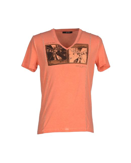 Guess   Orange T-shirt for Men   Lyst