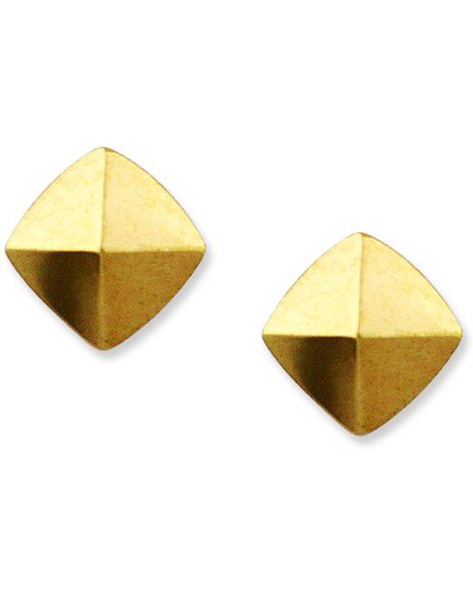 Vince Camuto | Metallic Gold-tone Pyramid Stud Earrings | Lyst
