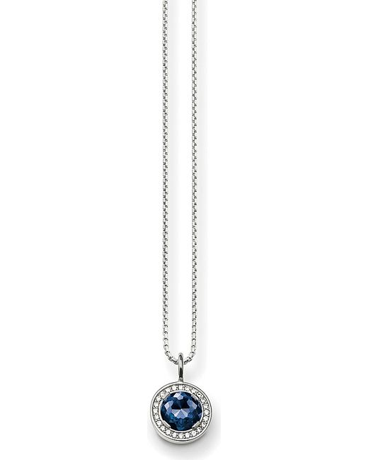 Thomas Sabo | Metallic Light Of Luna Sterling Silver, Zirconia-pavé And Corundum Necklace | Lyst