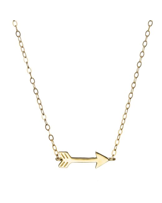 Lulu Frost | Metallic Code 14kt Arrow Necklace | Lyst