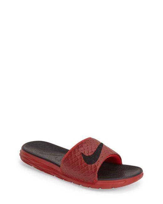 Nike | Red 'benassi Solarsoft 2' Slide Sandal for Men | Lyst