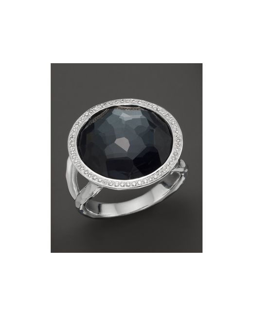 Ippolita | Multicolor Stella Lollipop Ring In Hematite Doublet With Diamonds In Sterling Silver | Lyst