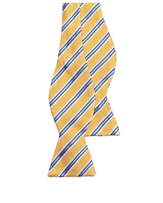 Brooks Brothers | Yellow Oxford Stripe Bow Tie for Men | Lyst